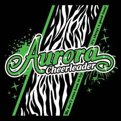 Aurora Cheerleader in Zebra - 2013 Camp Shirt by Schlady