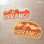 The Sprangs - sticker designs by Schlady