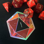 d20 Nat 1 - Holographic Sticker by Schlady