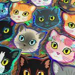 Shiny Cat Stickers! by Schlady