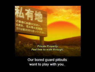Private property motivator by p3rsh1ng
