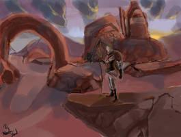 Desert Traveler by zathraya
