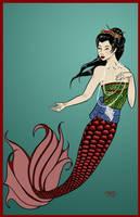 Geisha-inspired Mermaid by M-Everham