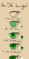 How Dah draw eyes by Daheji