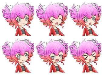 Petronille Pink V2 Expression Sheet 01 by Daheji