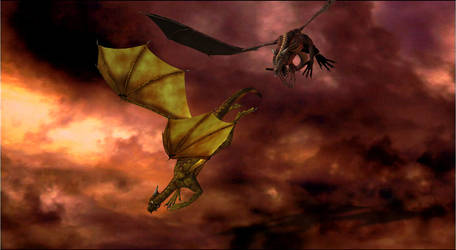 Dragon Battle by Duranche