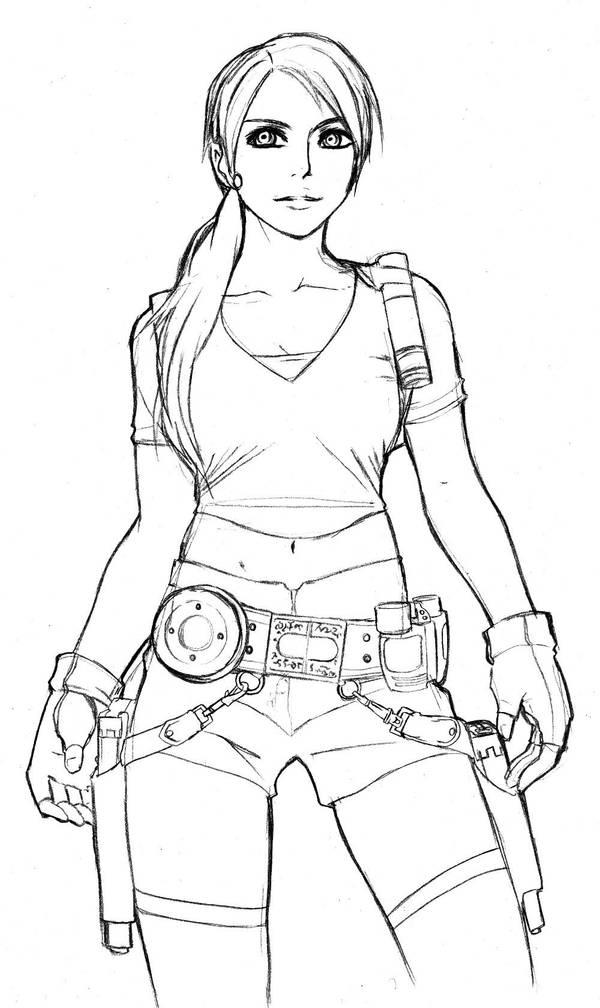 sketch: Lara Croft Tomb Raider by mazjojo