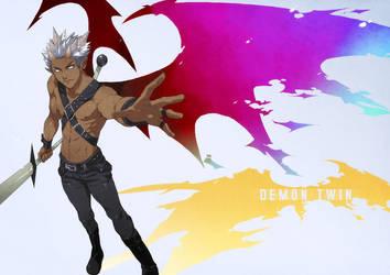 Commission: Demon Twin by mazjojo