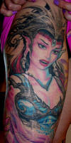 monicas leg tattoo by claudia by claudiatat2