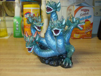 Five Headed Dragon Incense Burner (Done) by ladytremere85