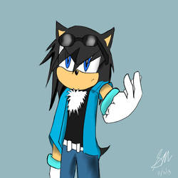Keith the hedgehog by AzureSt0rm