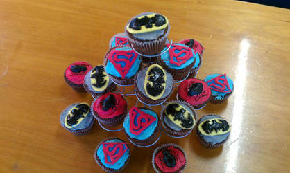 Superhero Cupcakes by cookie0587
