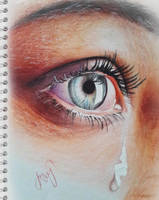 Crying eye by igshqipeartwork