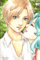Haru and Michi by junfender