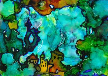 Fantasy landscape by Super-kip