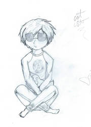 Dave Strider (pencil) by catcat7077