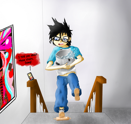 John Egbert: I told you about those stairs! by catcat7077