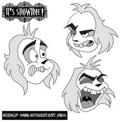 Beetlejuice Expression Practice #1 by Deadly-Voo