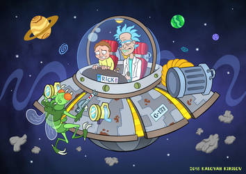 Rick and Morty by CartoonFool