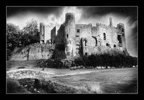 Laugharne Castle by seancoetzer