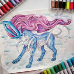 Color pencil Suicune by light-askha