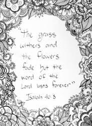 Isaiah 40:8 by WiseGirl15