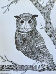 Zentangle Owl by WiseGirl15