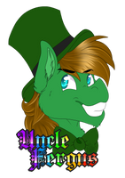 Badge Uncle Fergus by xRubyCayx