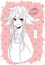 Moo by azamono
