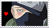 Blushing Kakashi STAMP by lonewined