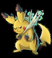 Mega pikachu by abogato