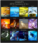 2016 Summary of art by seagaull