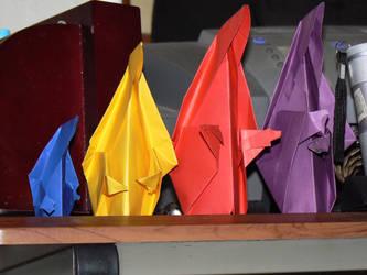 Origami Nuns by IceXDragon