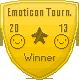 Emoticon Tournament Winner Badge by IceXDragon