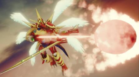 Heliosdramon, Dragon God of the Sun by Wondererofwonders