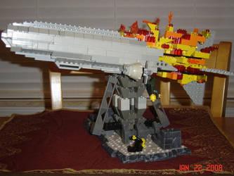LEGO Hindenburg Disaster by Heatherbeast