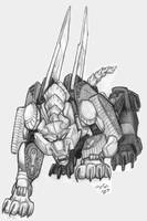 Transmetal Beast Wars Sixshot by Heatherbeast