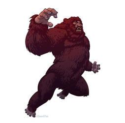 Bigfoot from Six Million Dollar Man by pungang