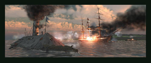 Burning of the USS Congress by graught