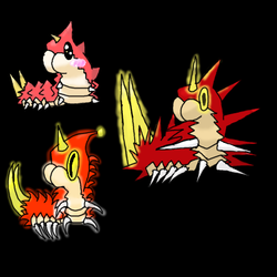 Wurmple Designs Challenge - Testing Paint Tool SAI by goblaze