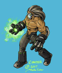 Cinder OC sketch by MrFishLee