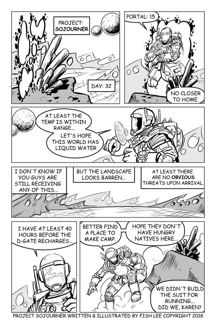 Project: Sojourner page 01 by MrFishLee