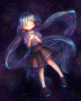 Hatsune Miku - UFO fanart by Galdoria-Graints