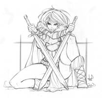 Commission - Tyra the Barbarian by lilin1988