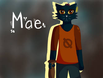 Mae Borowski | Night in the Woods by GoldenflareDraws