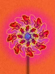 Flower Pinwheel by digitalxdefiant