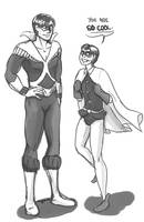 Discowing and Robin by alshshaen