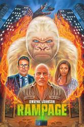 'Rampage' Movie Poster by NickyBarkla