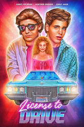 'License to Drive' Illustrated poster by NickyBarkla