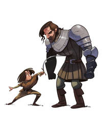 Aria And The Hound by the-art-of-B